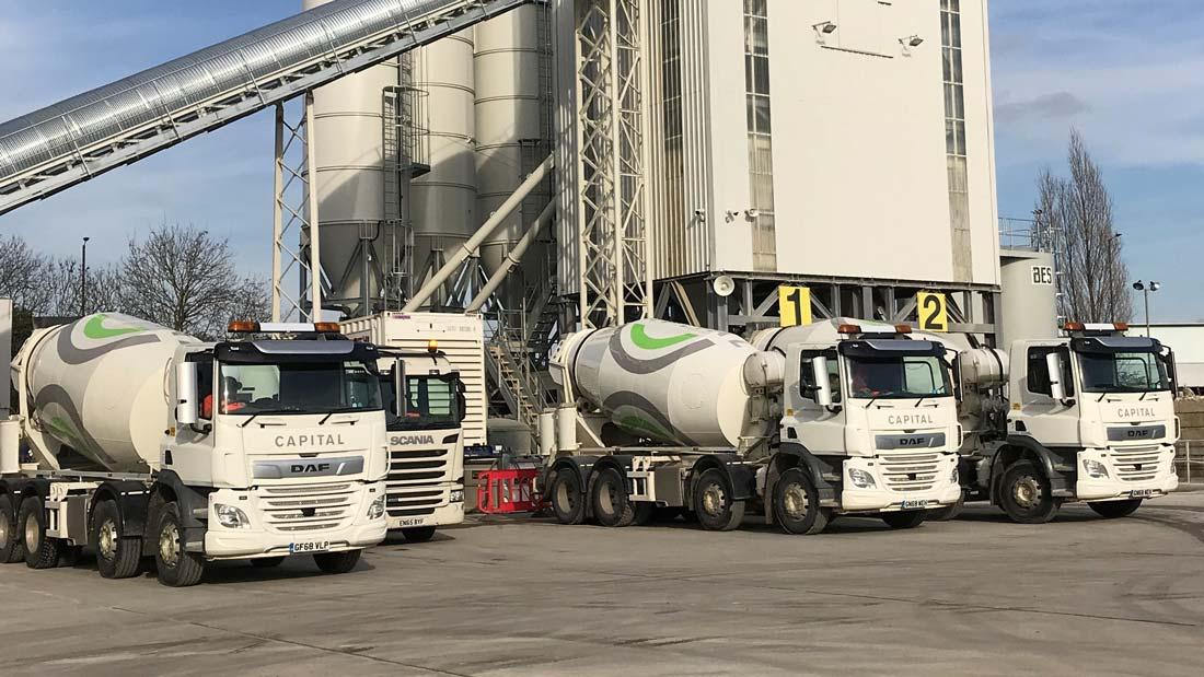 Capital Concrete's concrete plant in Wembley, London